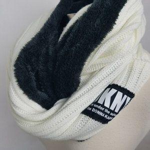 DKNY fleece lined infinity women's winter scarf